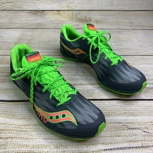 Kilkenny Saucony Green Neon Running Cleated Shoes